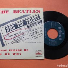 Discos de vinilo: THE BEATLES PLEASE PLEASE ME / ASK ME WHY SINGLE SPAIN 1963 PDELUXE. Lote 133168009