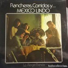 Discos de vinilo: LA ALEGRE BANDA-RANCHERAS, CORRIDOS Y MEXICO LINDO, LEVANTE--– 01M9181. Lote 76396571
