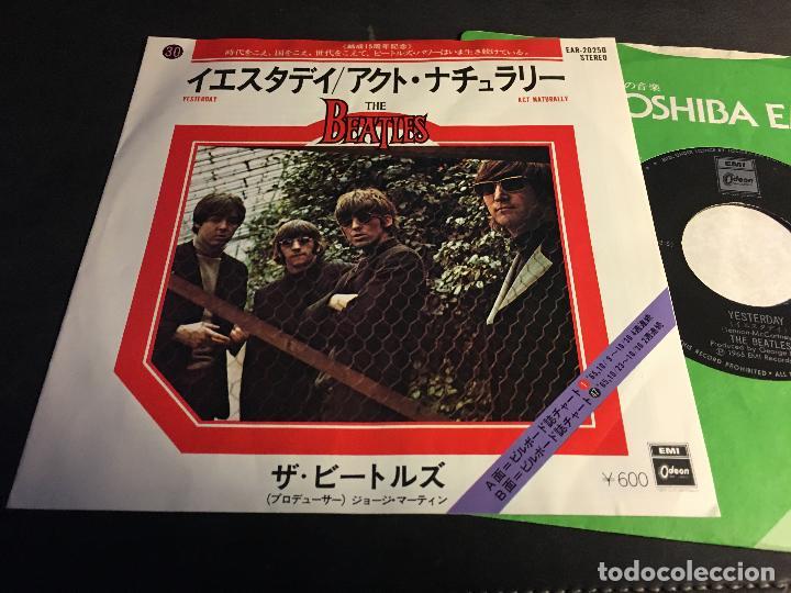 THE BEATLES ( YESTERDAY /ACT NATURALLY) SINGLE JAPAN (EPI5) (Música - Discos - Singles Vinilo - Pop - Rock Extranjero de los 50 y 60)