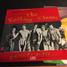 Discos de vinilo: THE ROLLING STONES LIVE (THIS IS ON MY SIDE / TWENTY FLIGHT ROCK) SINGLE JAPAN RED VINYL (EPI5) . Lote 76399743