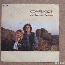 Discos de vinilo: OMPLICES - CARTAS DE FUEGO + CARTAS DE FUEGO (INSTRUMENTAL). Lote 76409047