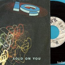 Discos de vinil: IQ: SOLD ON YOU / THROUGH MY FINGERS. Lote 76421495