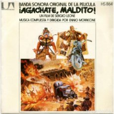 Discos de vinilo: ENNIO MORRICONE ‎– ¡AGÁCHATE, MALDITO! - SG SPAIN 1972 - UNITED ARTISTS RECORDS HS 864. Lote 76431183