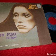Dischi in vinile: ANA BELEN DE PASO/TENGO 7'' SINGLE 1978 PHILIPS. Lote 76444075