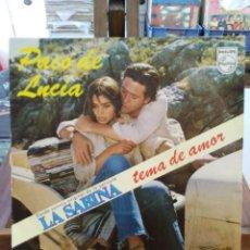 Discos de vinilo: PACO DE LUCÍA - LA SABINA - BSO DE LA PELÍCULA - SINGLE . Lote 76450143