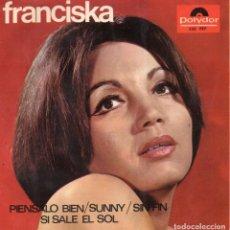 Discos de vinilo: FRANCISKA, EP, PIENSALO BIEN + 3, AÑO 1966. Lote 76481215