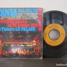 Discos de vinilo: FANIA ALL STARS SALSA LE PALECE YANKEE STADIUM 1976 CONGO BONGO NEW YORK SINGLE T86 VG MUY ESCASO. Lote 76511247
