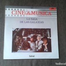 Discos de vinilo: STAR WARS -- 2 VINILOS IGUALES 1 CARÁTULA - LA SAGA DE LAS GALAXIAS - POLYDOR 1987 - SALVAT - FOTOS. Lote 76514711