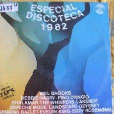 Discos de vinilo: LP - ESPECIAL DISCOTECA 1982 - VARIOS (DOBLE DISCO, SPAIN, RCA RECORDS 1986). Lote 76533931