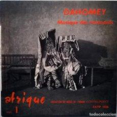 Discos de vinilo: DAHOMEY. MUSIQUE DES REVENANTS. AFRIQUE VOL I. VOGUE FRANCE 1958 EP. Lote 76534003
