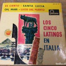 Discos de vinilo: LOS CINCO LATINOS EN LATINO. ES CIERTO.. Lote 76551343
