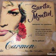 Discos de vinilo: SARITA MONTIEL. ANTONIO VARGAS HEREDIA. Lote 76551487