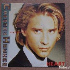 Discos de vinilo: CHESNEY HAWKES - SECRETS OF THE HEART + ONE WORLD. Lote 76557823