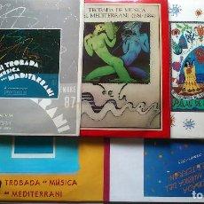 Disques de vinyle: TROBADA DE MUSICA DEL MEDITERRANI - LOTE VOLUMENES 1 2 5 6 7 9 - LP - NUEVO. Lote 76561227