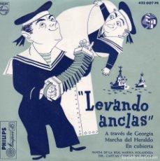 Discos de vinilo: BANDA DE LA REAL MARINA HOLANDESA, EP, LEVANDO ANCLAS + 3, AÑO 1959. Lote 76581867