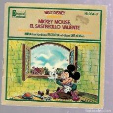 Discos de vinilo: SINGLE. WALT DISNEY. MICKEY MOUSE, EL SASTRECILLO VALIENTE. 1972. Lote 76588015
