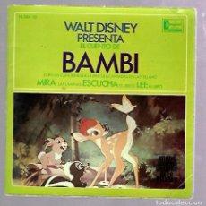 Discos de vinilo: SINGLE. WALT DISNEY. EL CUENTO DE BAMBI.. Lote 76588283