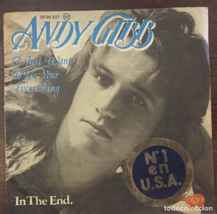 ANDY GIBB - I JUST WANT TO BE YOUR EVERYTHING (Música - Discos - Singles Vinilo - Pop - Rock - Extranjero de los 70)