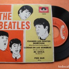 Discos de vinilo: THE BEATLES CON TONY SHERIDAN MY BONNIE/CRY FOR A SHADOW EP MEJICO. PDELUXE.. Lote 76633443