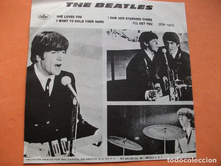 Discos de vinilo: THE BEATLES SHE LOVES YOU / ILL GET YOU EP MEXICO 1971 PDELUXE - Foto 2 - 76633983