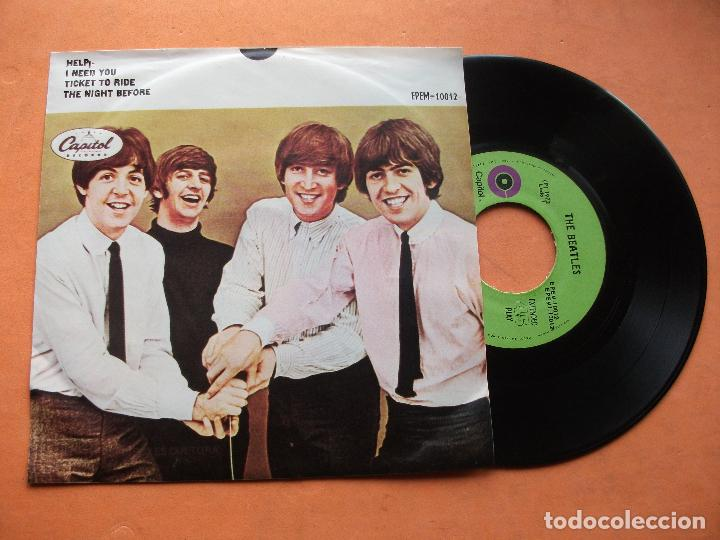 Discos de vinilo: THE BEATLES HELP / TICKET TO RIDE EP MEJICO 1972 PDELUXE - Foto 1 - 76634175