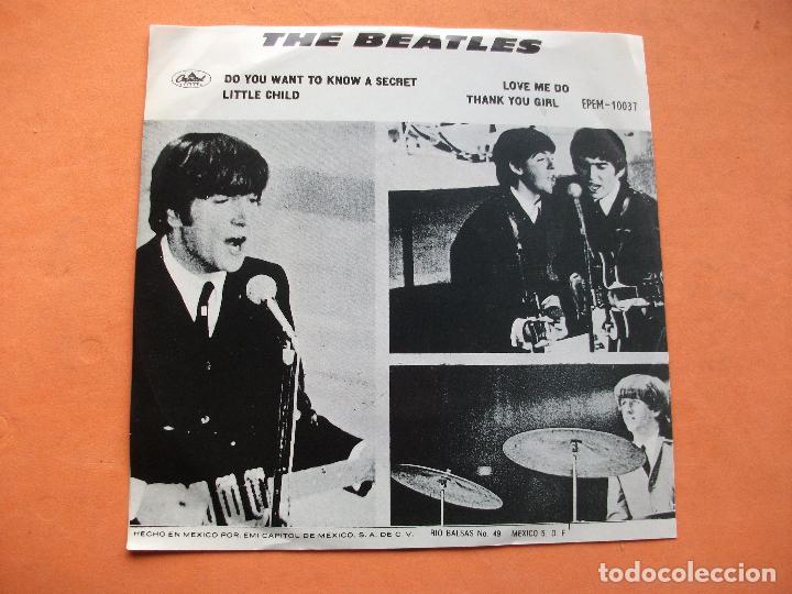 Discos de vinilo: THE BEATLES LOVE ME DO / LITTLE CHILD EP 1972 MEXICO.PDELUXE - Foto 2 - 76634767