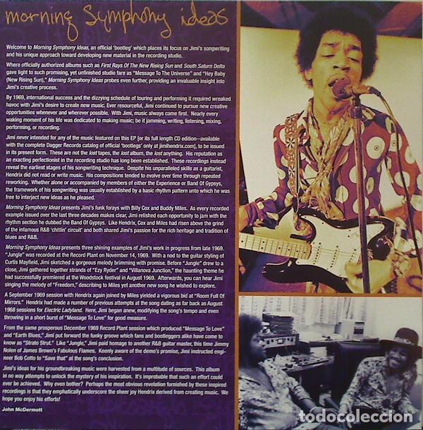Discos de vinilo: JIMI HENDRIX MORNING SYMPHONY IDEAS EP 10 PULGADAS. EDICION LIMITADA VINILO AMARILLO - Foto 4 - 76647479