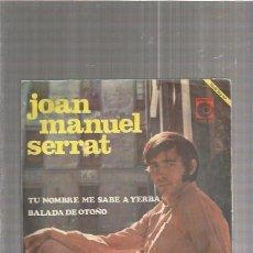 Discos de vinilo: SERRAT TU NOMBRE. Lote 76663411