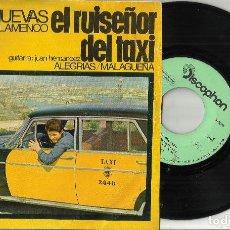 Discos de vinilo: EL RUISEÑOR DEL TAXI SINGLE EN MALAGA SE ENCONTRARON.1969. Lote 262373500