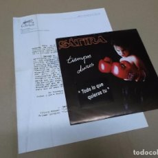 Discos de vinilo: SATIRA (SN) TODO LO QUE QUIERAS TU AÑO 1992 – CON HOJA PROMOCIONAL. Lote 76691911