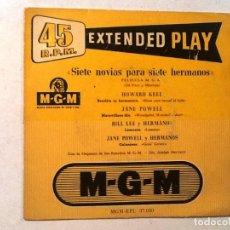 Discos de vinilo: SIETE NOVIAS PARA SIETE HERMANOS - EXTENDED PLAY MG. Lote 76700155