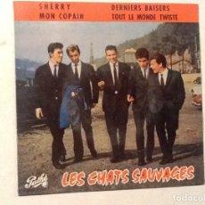 Discos de vinilo: LES CHATS SAUVAGES SHERRY MON COMPAIN DERNIERS BAISERS, TOUT LE MONDE TWISTW EP ESPAÑA 1963 (EP14). Lote 76700547
