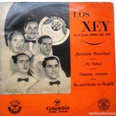 Discos de vinilo: LOS XEY ''RICORDATE MARCELINO'' AÑO 1959 VINILO DE 7'' ES UN EP. Lote 76704975