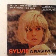 Discos de vinilo: SYLVIE VARTAN - SYLVIE A NASHVILLE LA LA LA / SINCE YO DON`T CARE 1963 RCA VICTOR. Lote 76705595