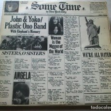 Discos de vinilo: JOHN YOKO PLASTIC ONO BAND - SOME TIME IN NEW YORK CITY - 1972 - DOBLE LP. Lote 76706359