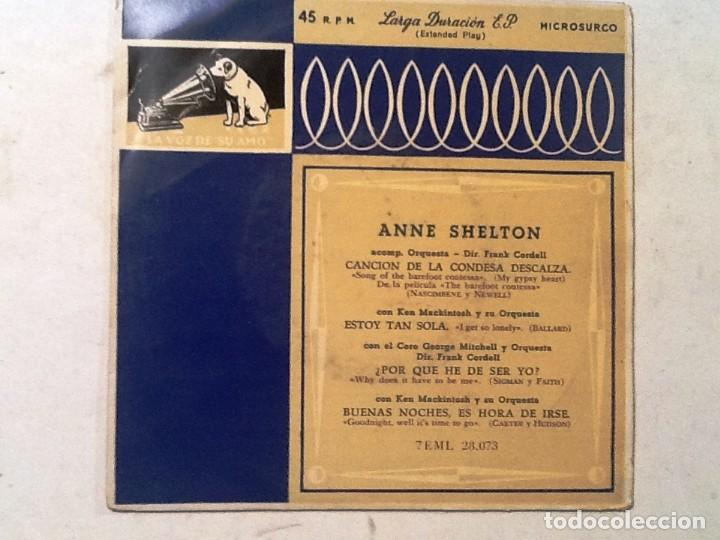 ANNE SHELTON CANCION DE LA CONDESA DESCALZA , ESTOY TAN SOLA ¿PORQUE HE DE SER YO? (Música - Discos de Vinilo - Maxi Singles - Pop - Rock Internacional de los 50 y 60)