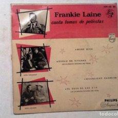 Discos de vinilo: EP. FRANKIE LAINE CANTA TEMAS DE PELICULAS. MOBY DICK/DUELO DE TITANES...1959. Lote 76708283