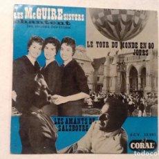 Discos de vinilo: LES MCGUIRE SISTERS. CHANTENT. LES AMANTS DE SALZBOURG, LE TOUR DU MONDE EN 80 JOURS . Lote 76708835