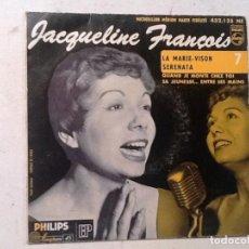 Discos de vinilo: JACQUELINE FRANÇOIS LA MARIE-VISION QUAND JE MONTE CHEZ TOI /. Lote 76710695