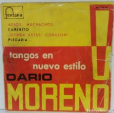 Discos de vinilo: DARIO MORENO - TANGOS EN NUEVO ESTILO - 1960 - FONTANA. Lote 76717931