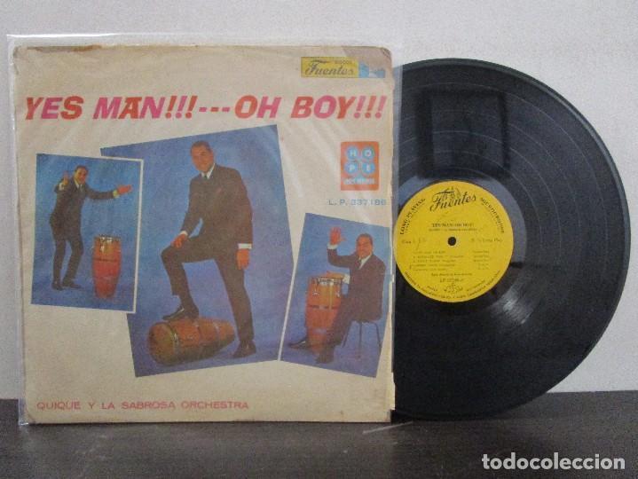 YES MAN OH BOY QUIQUE Y LA SABROSA ORCHESTRA BOOGALOO GUAGUANCO DESCARGA LP T83 G ESCASO (Música - Discos - LP Vinilo - Otros estilos)