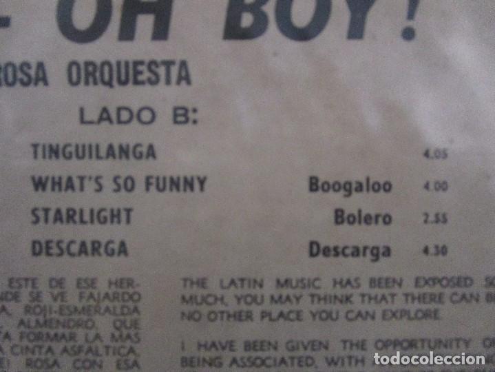Discos de vinilo: YES MAN OH BOY QUIQUE Y LA SABROSA ORCHESTRA BOOGALOO GUAGUANCO DESCARGA LP T83 G ESCASO - Foto 4 - 76717959