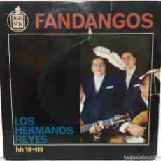 Disques de vinyle: LOS HERMANOS REYES - FANDANGOS - 1963 - HISPAVOX. Lote 76718127