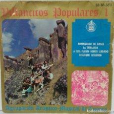 Dischi in vinile: AGRUPACION ARTISTICO MUSICAL DE CUENCA - VILLANCICOS POPULARES 1 - 1963 - HISPAVOX. Lote 76719347