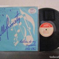 Discos de vinilo: BILLO FROMETA HISTORIA DE MI ORQUESTA BILLOS CARACAS BOYS VENEZUELA LP T83 G MUY RARO Y ESCASO. Lote 76720219