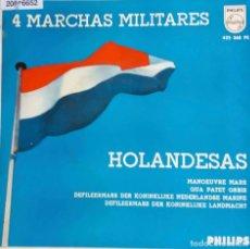Discos de vinilo: 4 MARCHAS MILITARES HOLANDESAS.BANDA DE LA KONINKLIJKE NEDERLANDSE MARINE. EP ESPAÑA. Lote 76764159