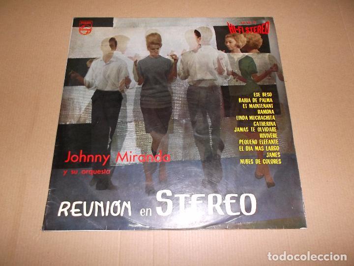 JOHNNY MIRANDA Y SU ORQUESTA (LP) REUNION EN STEREO AÑO 1963 (Música - Discos - LP Vinilo - Orquestas)