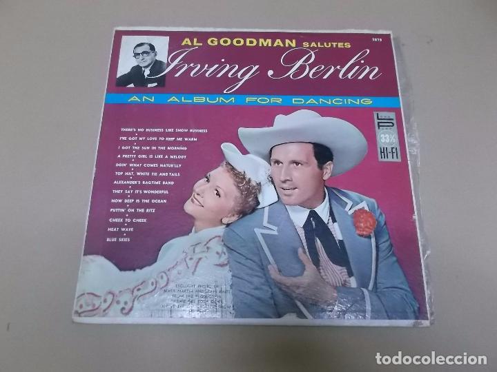 AL GOODMAN (LP) SALUTE IRVIN BERLIN AÑO 1957 – EDICION U.S.A. (Música - Discos - LP Vinilo - Orquestas)