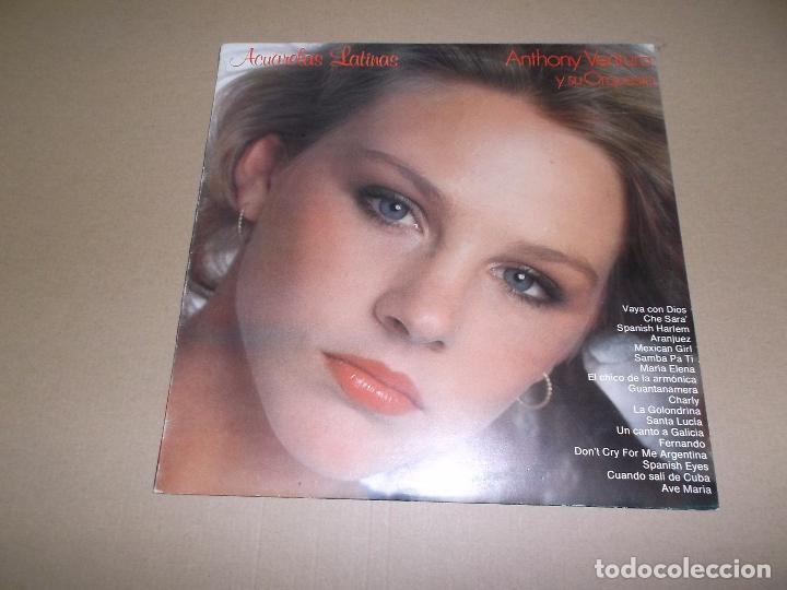 ANTHONY VENTURA Y SU ORQUESTA (LP) ACUARELAS LATINAS AÑO 1981 (Música - Discos - LP Vinilo - Orquestas)