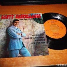 Discos de vinilo: SANTY CASTELLANOS Y EL TRIO FESTIVAL CARTAGENERA EP VINILO DEL AÑO 1965 CONTIENE 4 TEMAS. Lote 76785823